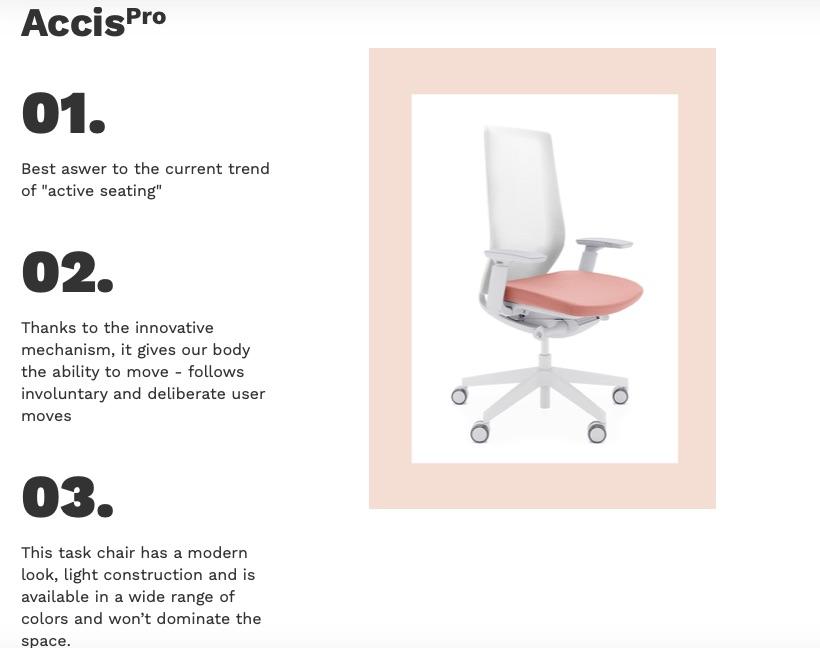 scaun accis pro