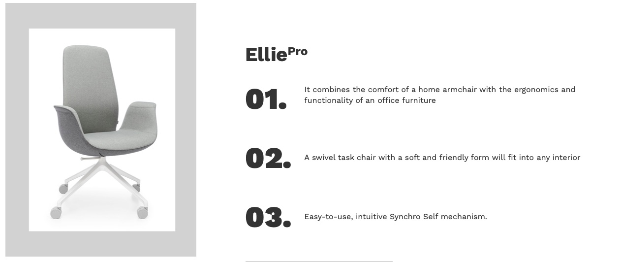 scaun Ellie Pro home office